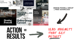 how to create a lead magnet denise powell group